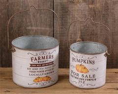Buckets - Farmers Market, Pumpkins For Sale