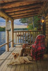 Led Canvas Print - Porch Scene
