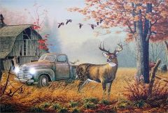 Led Canvas Print - Deer On The Farm