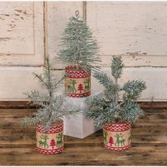 Small Green Tree Set of 3
