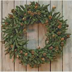 Pine Wreath w/Cones, 24""