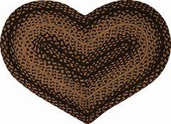 Braided Ebony Heart Rug