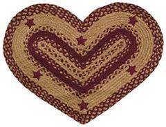 Wine Star Appliqued Heart Rug