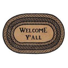 Welcome Ya'll Farmhouse Jute Oval Rug, 20x30