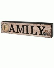 FAMILY' WOOD SIGN