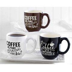Assorted Coffee Sayings Coffee Mugs