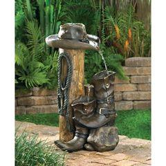 Western Cowboy Water Fountain