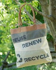 Recycle Canvas Tote Bag