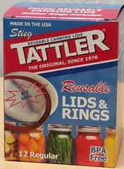 Item 12 ] 1 DOZEN BOXED E-Z SEAL REGULAR LIDS & RINGS ***FREE SHIPPING WITHIN THE CONTIGUOUS USA***