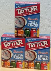 Item 16] 3 DOZEN BOXED E-Z SEAL REGULAR LIDS & RINGS***FREE SHIPPING WITHIN THE CONTIGUOUS USA***