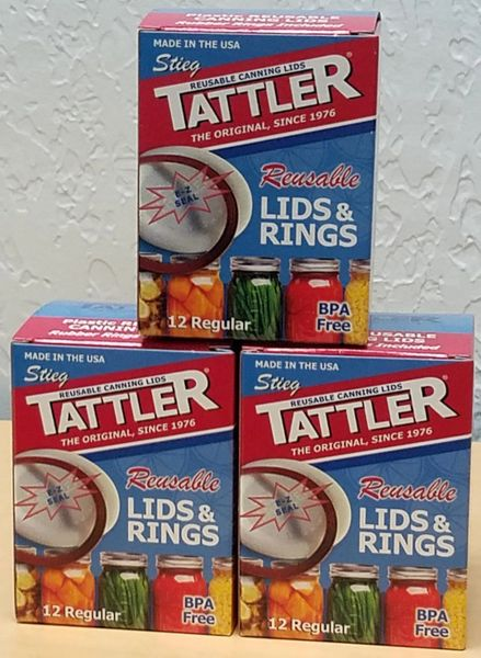 Item 16] 3 DOZEN BOXED E-Z SEAL REGULAR LIDS & RUBBER RINGS***FREE SHIPPING WITHIN THE CONTIGUOUS USA***