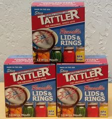Item 18] 3 DOZEN BOXED E-Z SEAL WIDE LIDS & RINGS***FREE SHIPPING WITHIN THE CONTIGUOUS USA***