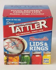 Item 14] 1 DOZEN BOXED E-Z SEAL WIDE LIDS & RINGS***FREE SHIPPING WITHIN THE CONTIGUOUS USA***