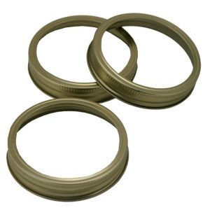 Item 41] CANNING JAR RINGS - WIDE MOUTH (BANDS ONLY) - LOT OF 60 ***FREE SHIPPING WITHIN THE CONTIGUOUS USA***