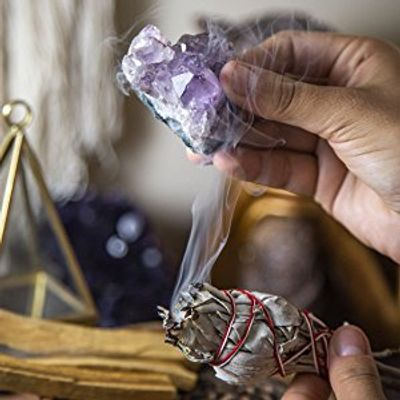 Cleansing your crystals using Sage