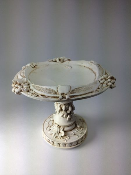 Pedestal White Candle Holder