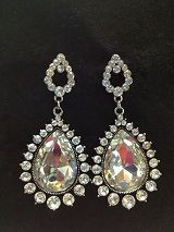 Crystal Dangle Tear Drop Style Earrings