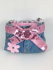 Pink and Blue Denim Mini Jean Purse