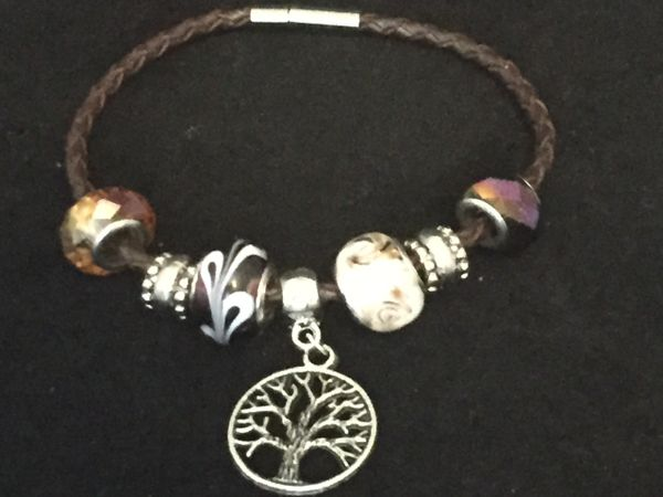 Tree of Life Beaded Charm Bracelet