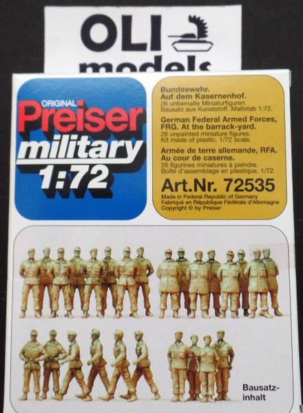 1/72 Unpainted German Federal Armed Forces (26) - Preiser 72535