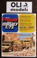 1/72 Unpainted US Modern Infantry (16) - Preiser 72500