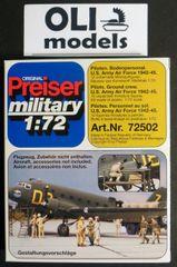 1/72 Unpainted USAAF Pilots & Ground Crew 1942-45 (12) - Preiser 72502