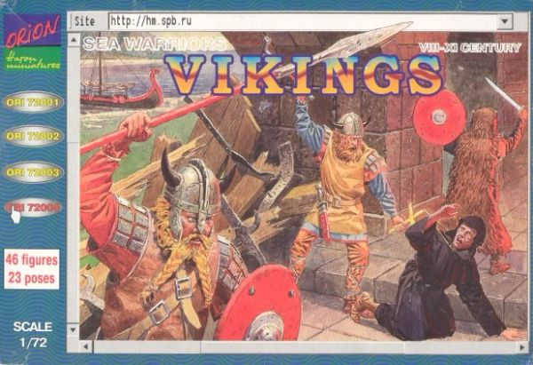 1/72 Vikings Sea Warriors VIII-XI Century (46) - Orion 72004