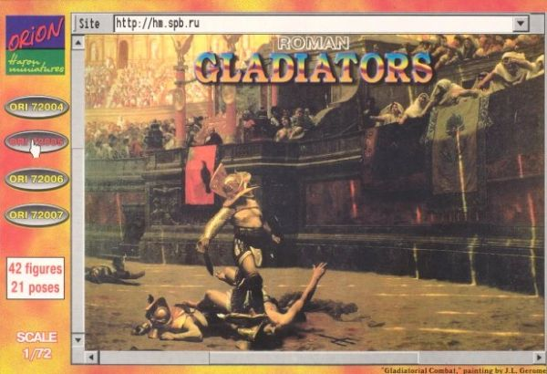 1/72 Roman Gladiators (42) - Orion 72005