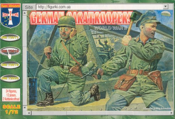 1/72 WWII German Paratroopers (24) - Orion 72018