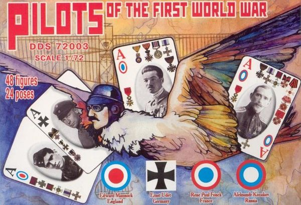 1/72 Dark Dream Studio: Pilots of WWI - France, Germany, Russia & Great Britain (48) - Orion DDS72003