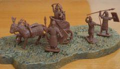 1/72 Biblical Era Mitannian Mariyannu (10) w/2 Chariots & 4 Horses - Caesar 15