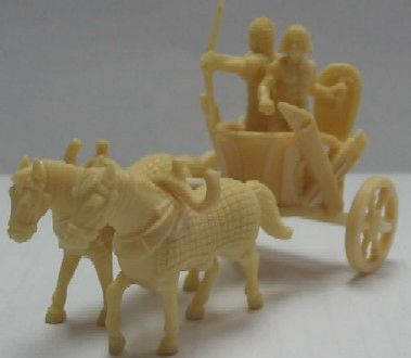 1/72 Egyptian Chariots (2) w/14 Riders & 4 Horses - Caesar 24