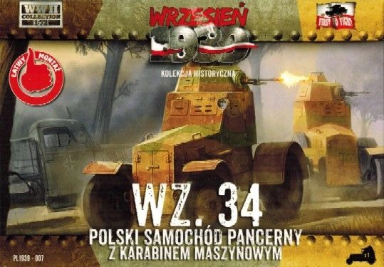 1/72 Wz.34 Polish Armored Car - First to Fight 007