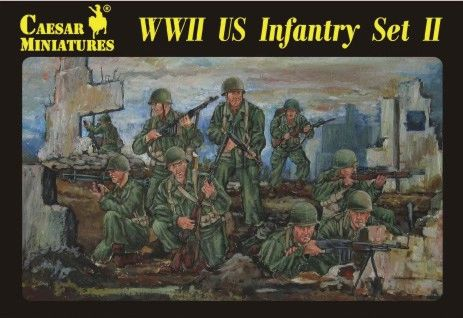 1/72 WWII US Infantry Set #2 (34) - Caesar 71
