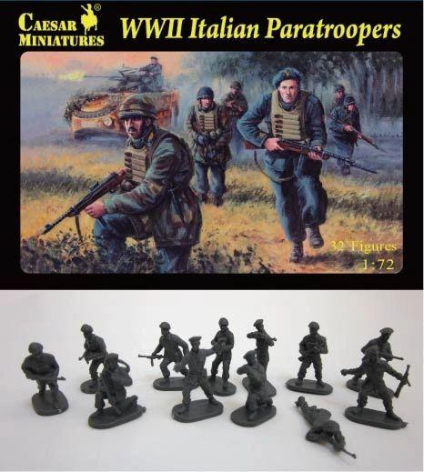 1/72 WWII Italian Paratroopers (33) - Caesar 75