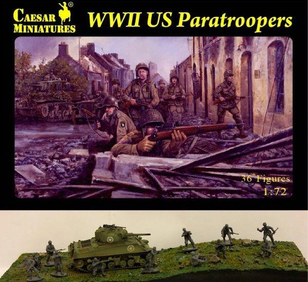 1/72 WWII US Paratroopers (33) - Caesar 76
