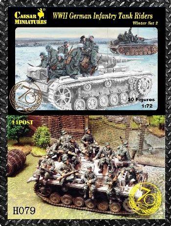 1/72 WWII German Infantry Tank Riders Winter #2 (30) - Caesar 79