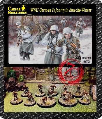 1/72 WWII German Infantry in Smocks Winter (32+) - Caesar 83