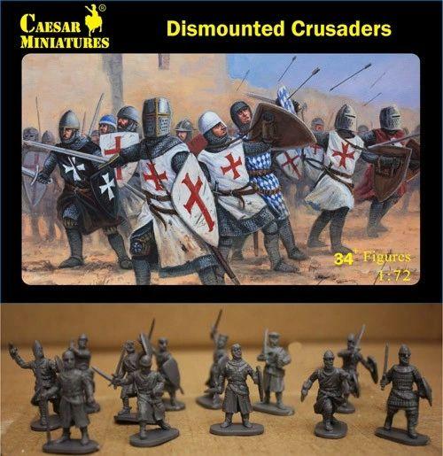 1/72 Dismounted Crusaders (34+) - Caesar 86