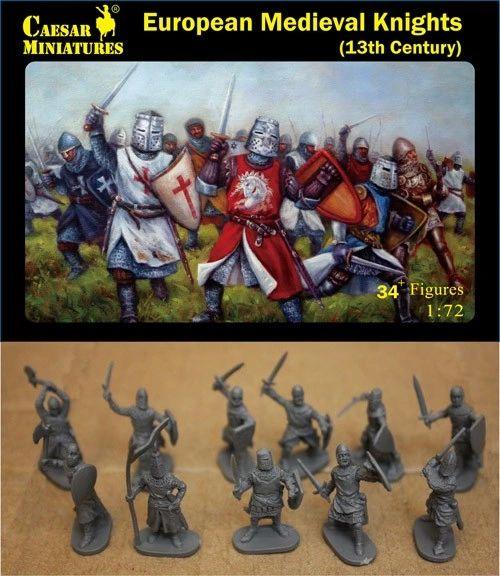 1/72 13th Century European Medieval Knights (34+) - Caesar 87