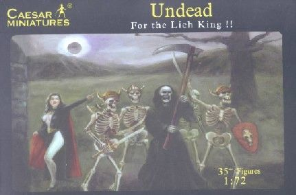 1/72 Fantasy Undead Fighting Skeletons (35+) - Caesar 103
