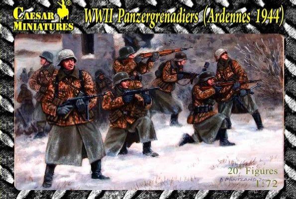 1/72 WWII Panzergrenadiers Western Ardennes 1944 (20) - Caesar HB2