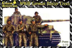 1/72 WWII German Panzer Crews (18) - Caesar HB3