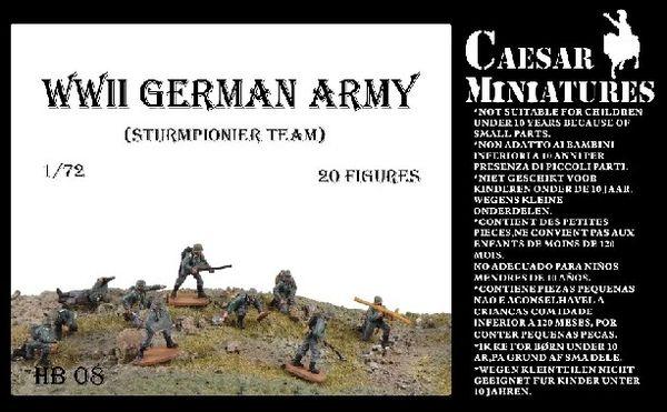 1/72 WWII German Army Sturmpionier Team (20) - Caesar HB8