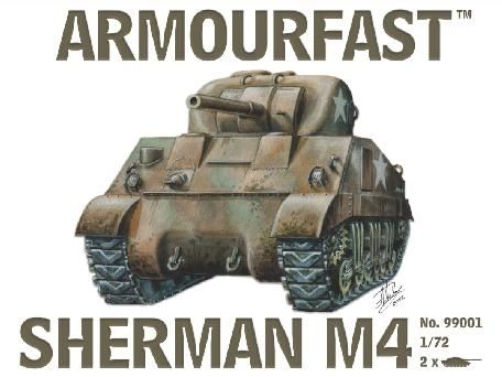 1/72 Sherman M4 Tank (2) - Armourfast 99001