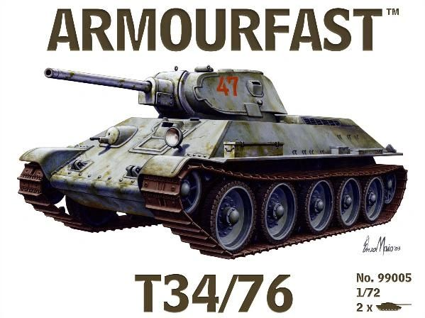 1/72 Russian T-34/76 Tank (2) - Armourfast 99005