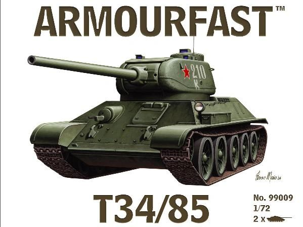 1/72 Russian T-34/85 Tank (2) - Armourfast 99009