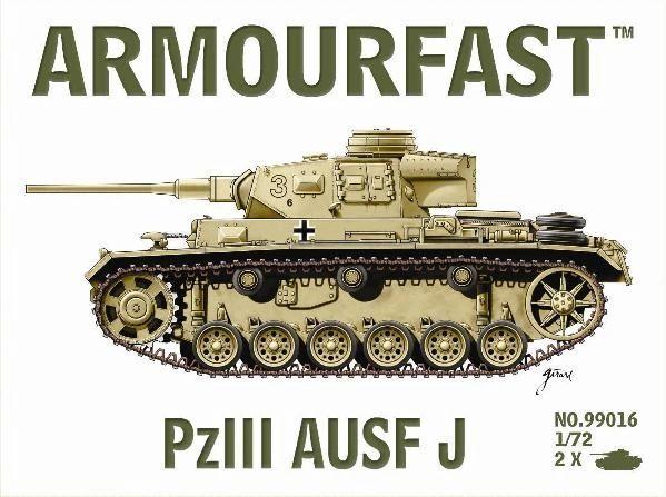 1/72 Pz.Kpfw. III Ausf.J Tank (2) - Armourfast 99016