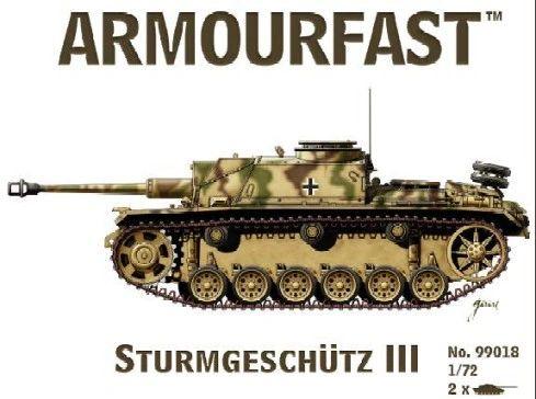 1/72 Sturmgeschutz III Tank (2) - Armourfast 99018