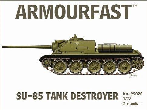 1/72 Su-85 Tank Destroyer (2) - Armourfast 99020